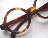 Large Thick 60's Round Tortoise Eyeglass Frames