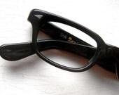 Vintage 60's Mini Geek Hornrim Black Eyeglass Frames Etsy Front Page 12/8/11 yeah-ah :)
