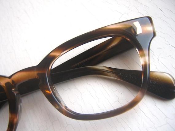 Vintage 60's Geek Hornrim Tortoise Eyeglass Frames by Liberty, USA