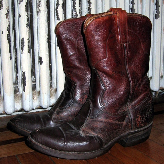 cowboy golf boots by backthennishvintage on etsy