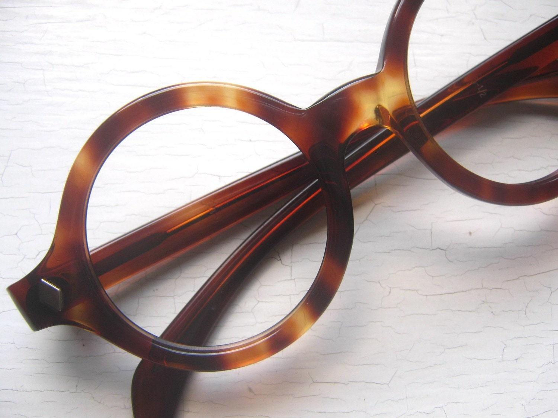Large Thick 60 S Round Tortoise Eyeglass Frames