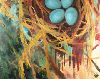 Nest Print 15.5 x 10 inches