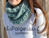 The Paige Circular Eternity Scarf Crochet PATTERN Instant Download - Buy 3 Patterns Get 1 FREE SALE!