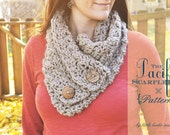 The Pacific Scarflette Crochet Cowl Neckwarmer PATTERN Instant Download - Buy 3 Patterns Get One FREE SALE!