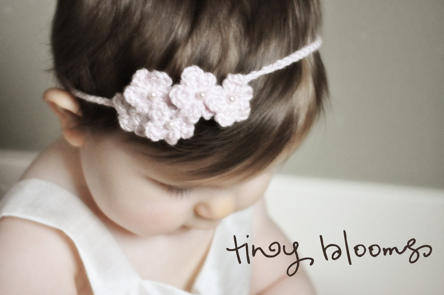 Crochet Headband Pattern Newborn : Spring Blooms Crochet Flower Headbands by LittleBirdieShoppe