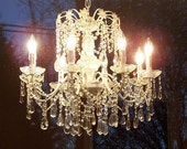 ON SALE Romantic Chic Eight Light Crystal Chandelier
