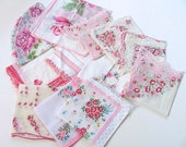 Pinks Vintage  Hankie Collection