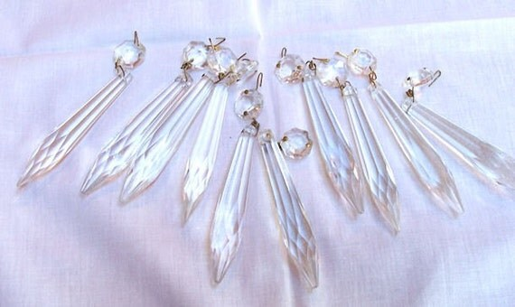 Vintage Icicle Crystal Prisms -10-