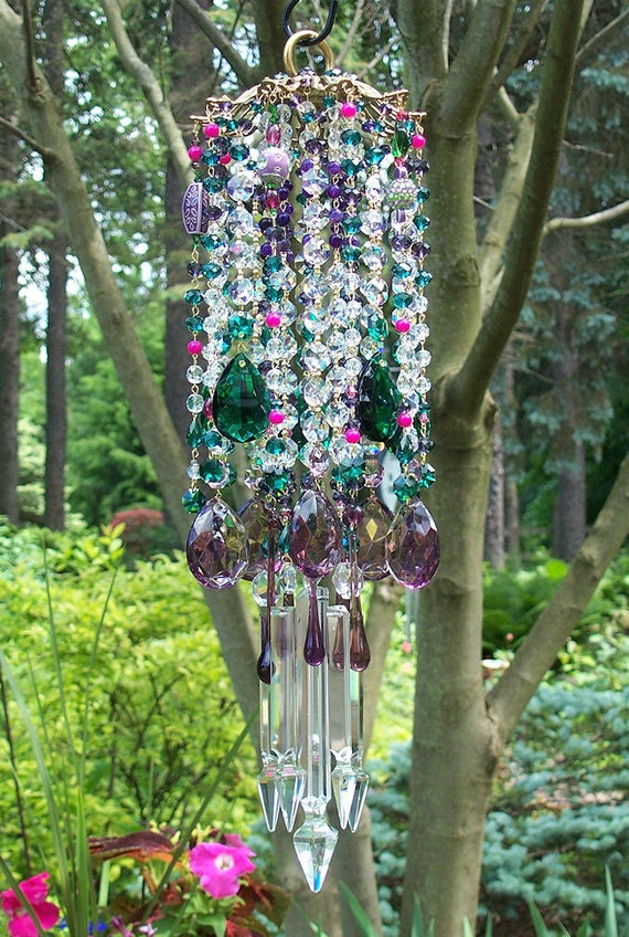 Bohemian Nights Antique Crystal Wind Chime