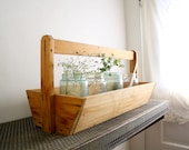RESERVED FOR LORIE Large Vintage Wooden Tote and Mercantile Scale