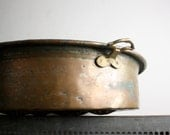Large Vintage Copper Turkish Escargot Pan with Brass Handles
