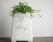 Fancy Vintage Ceramic Planter - Barley Canister