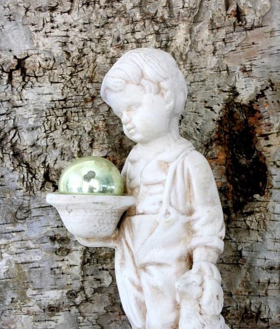 The Shepherd Boy Statue - Bethlehem Wood Carving