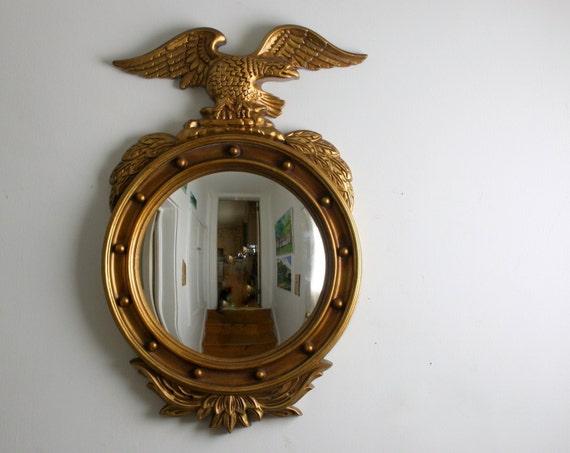 Vintage Eagle Mirror -  Porthole Nautical Style