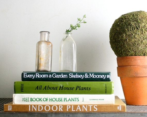 Four Vintage Gardening Books - Houseplants