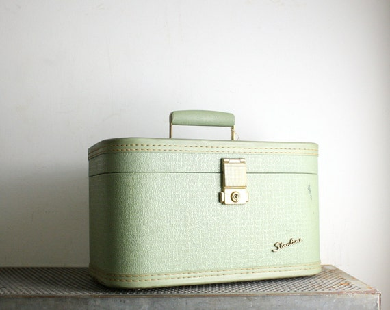 Vintage Seafoam Green Train Case