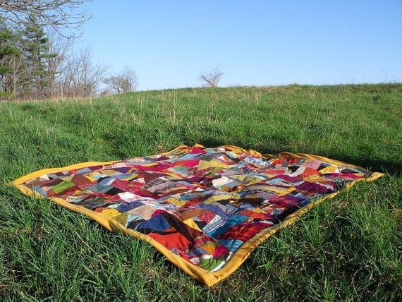 Freedom Patch II hand tied Patchwork Scrap Quilt