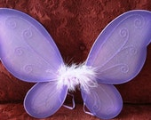 2 QT Purple Fairy Wings - Medium