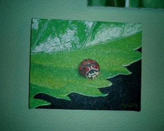 Lady Bug  Oil Painting