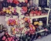 Flower Cart Polaroid Print Polaroid Manipulation Room Decor Photograph