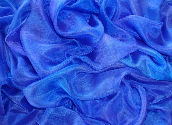Violet and periwinkle iridescent silk veil, 3 yards, hand-painted & ready to ship