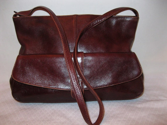 Reserved fore DespiLatico bag purse in thick full grain gen leather deep  burgundy