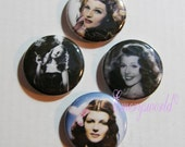 Rita Hayworth 1 inch Button Set no 1