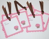 cupcake gift tags (set of 6)