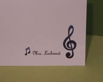 Music Note Greeting Card set of 10