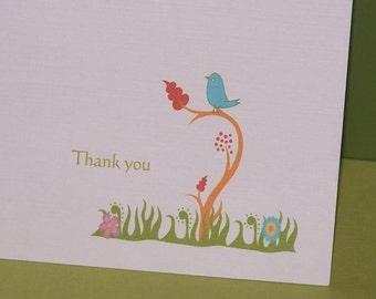 Bird thank you cards (set of 10)