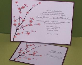 Personalized Wedding invitations Cherry Blossom SAMPLE
