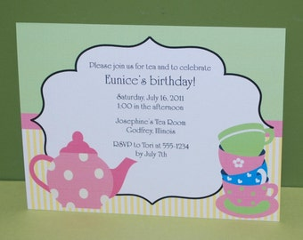 Time for Tea Birthday Invitations (set of 10)