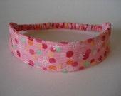 Boutique Fabric Hip Headband...Fun Dots  (No. 60)