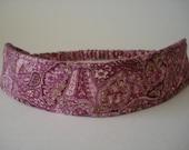 Boutique Fabric Hip Headband...Rose Paisley  (No. 80)