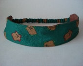 Boutique Fabric Hip Headband...Sample Sale...Gingerbread (No. 105)