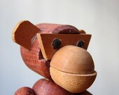Jointed teak monkey by Viking