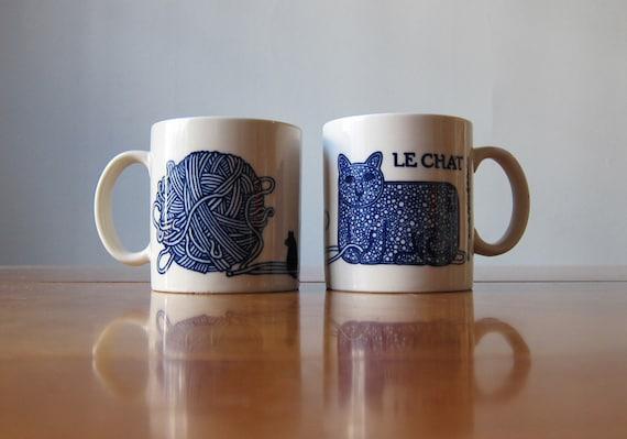"""Taylor & Ng """"Le Chat"""" French series mugs"""