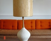 TREASURY ITEM - Vintage Mid Century Danish Modern Textured Eames Era Lamp