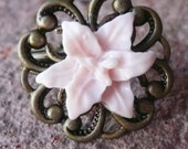 Lily and Brass Garden Ring