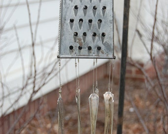 Cheese Grater WInd Chime - Small