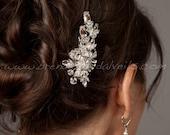 Rhinestone Bridal Hair Clip, Wedding Headpiece, Bridal Hair Piece, Crystal Head Piece - Scarlett