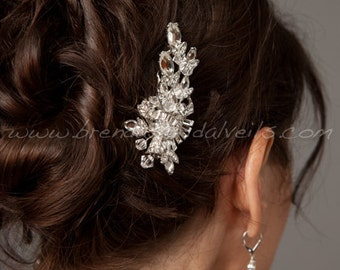 Rhinestone Bridal Hair Clip, Wedding Headpiece, Bridal Hair Piece, Crystal Head Piece - Scarlett
