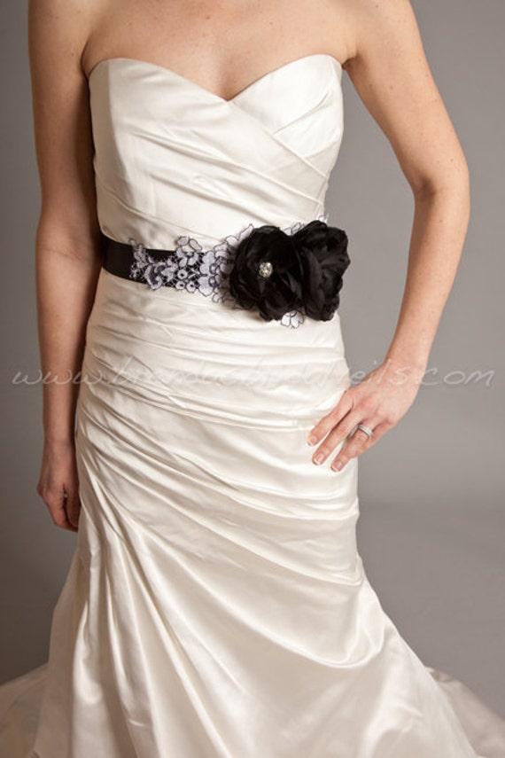 items similar to black bridal sash bridal belt wedding