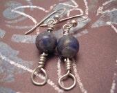 Sodalite Orb Earrings...