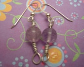 Fluorite Orb Earrings...