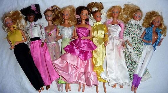 RESERVED for  VaniChan ONLY We Love  Barbie Dolls Huge Lot of 9 Vintage Dolls Mattel 1970 - 1980 Great Condition
