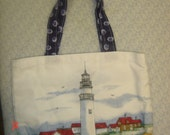 Reusable Lunch Bag with Inside Pockets and A Small Cloth Napkin - Many Designs And Mostly Green