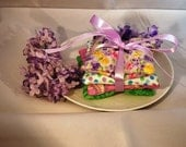Lavender Sachet Dryer Bags - Set of 4 with Ribbon