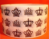 Cool Crowns Royal King Queens Design on White  Plastic Decor Deco DIY Sticker Tape