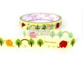 Elephant Animal Tree Bird Rainbow Decor Deco Tape Scrapbook Stickers